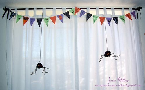 Banner with spiders