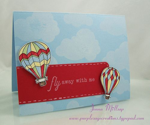 Fly away card