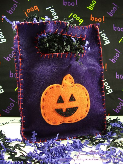 Purple boo bag