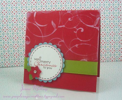 4x4 christmas card